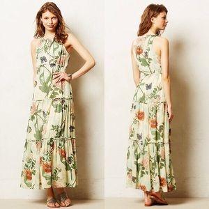 Anthropologie Floral Maxi Dress
